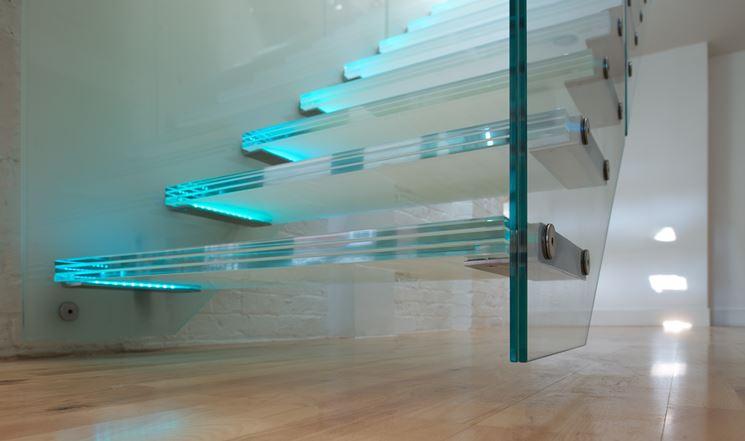 Scale per interni in vetro