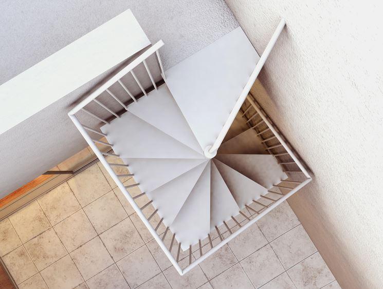 scala quadrata a chiocciola