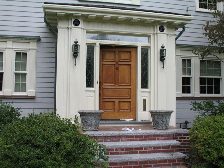 Porta per esterno in legno