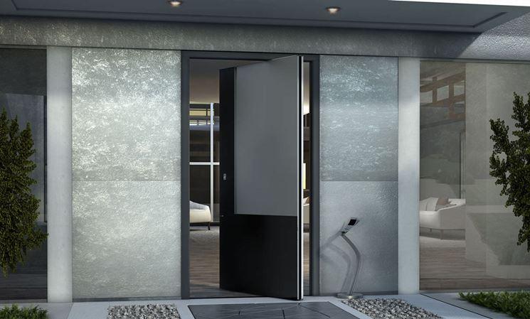Porta in alluminio d'ingresso