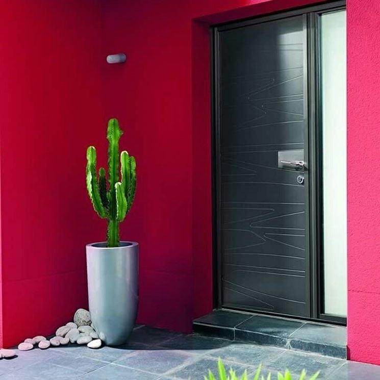 porta in alluminio moderna