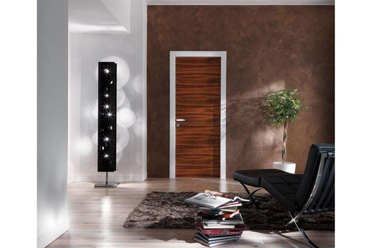 porta alluminio effetto legno