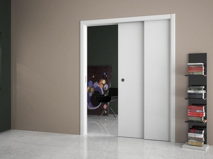 Porta scorrevole interno muro