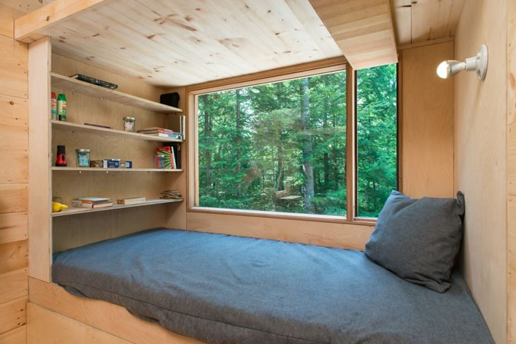 finestre in legno lamellare