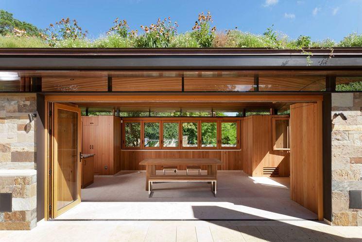 serramenti moderni in legno lamellare