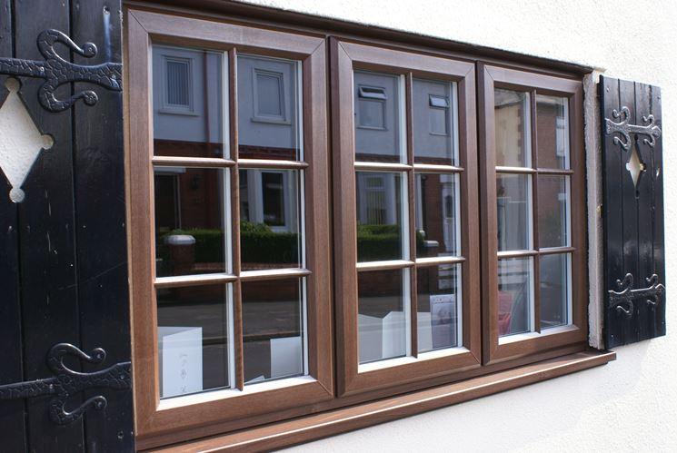 Serramenti in PVC effetto legno