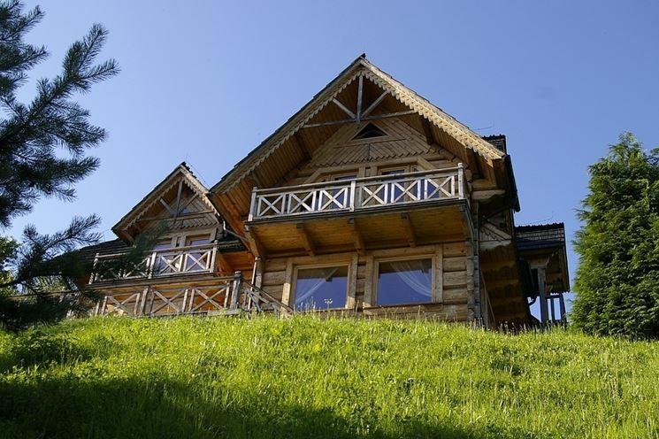 Splendida casa di montagna in legno