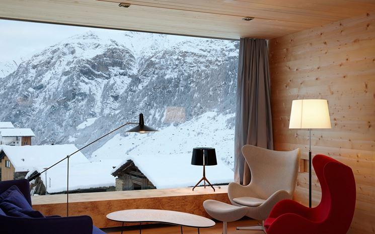 dettagli casa in montagna