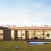 Casa con vetrate