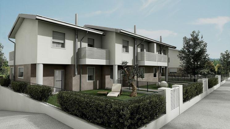 Pianta Architettura Definizione : Case a schiera sistemare casa cosa sono le