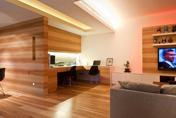 Interno di casa in legno