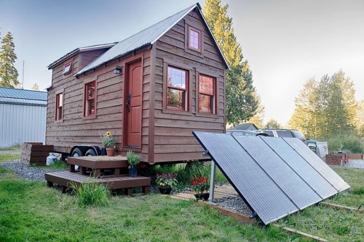 Casa mobile rivestita in legno