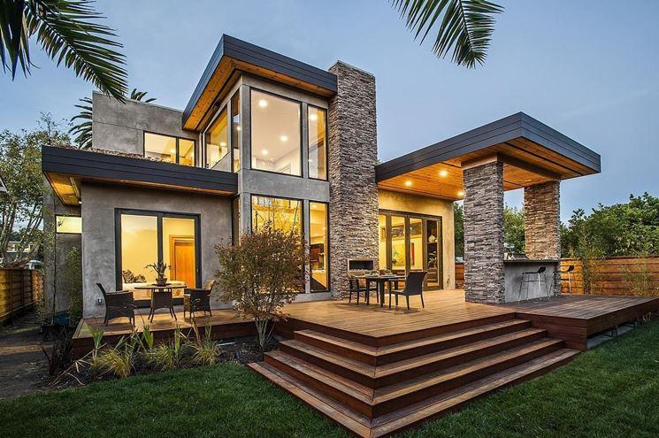 Esterno di una casa moderna