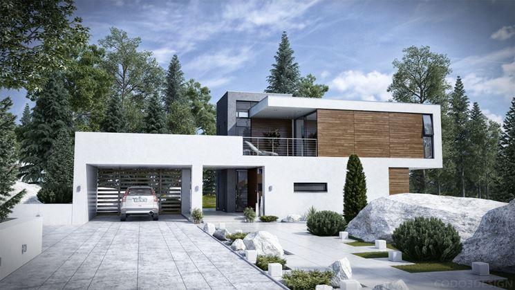 Rivestimento Esterno Casa Moderna : Facciate case moderne. elegant affordable immagine della facciata di