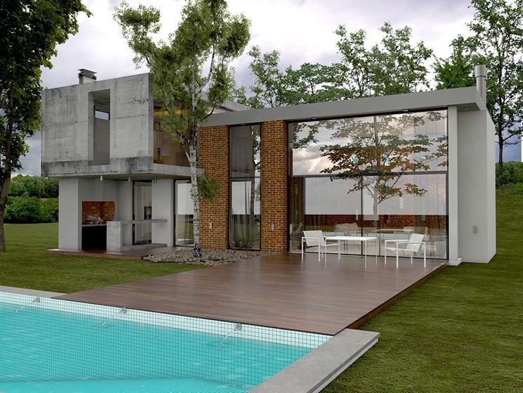 Casa unifamiliare con piscina