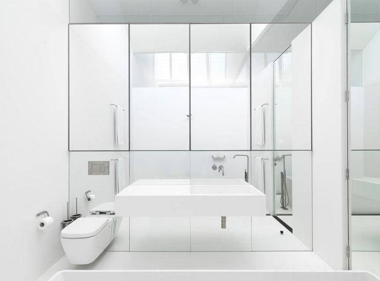 Parete a specchio in bagno