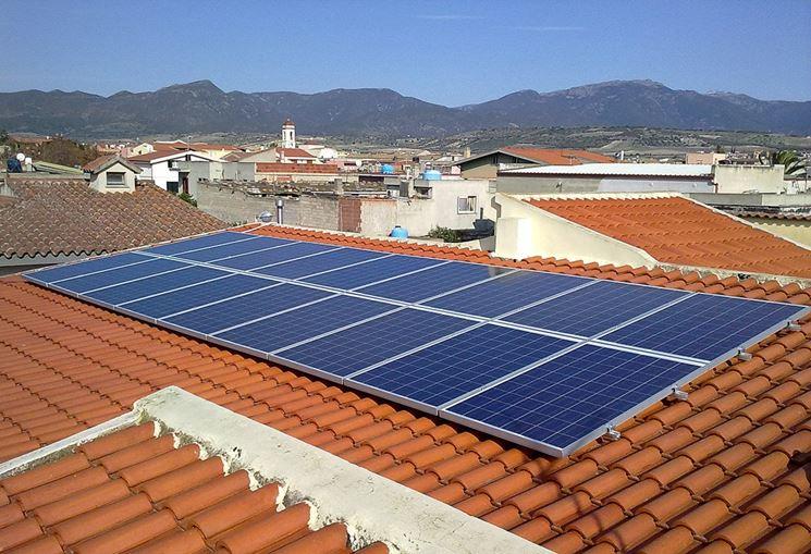 Pannelli fotovoltaici installati sul tetto