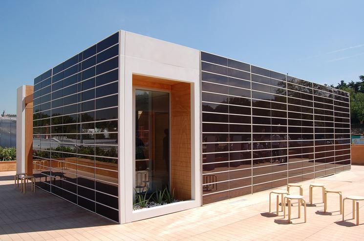 Impianto fotovoltaico a parete