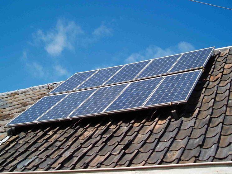 pannelli fotovoltaici sui tetti