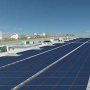Impianto fotovoltaico a film sottile.