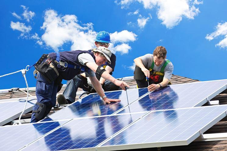 Fissaggio pannelli fotovoltaici