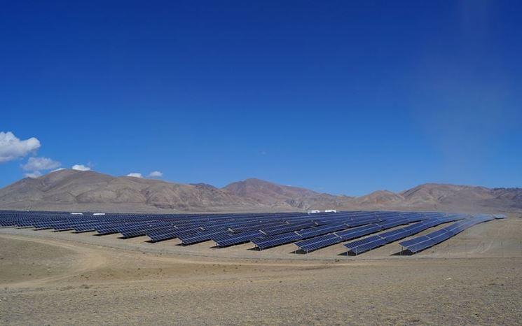 Sistema fotovoltaico a terra
