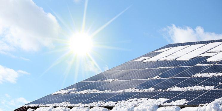Pannelli fotovoltaici neve