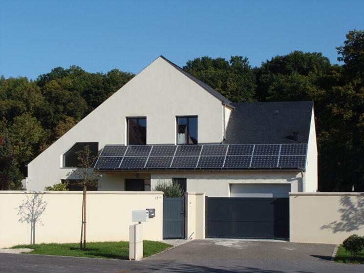 Pannelli solari sul tetto