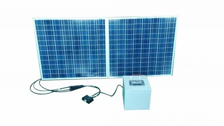 Modulo fotovoltaico collegato ad accumulatore
