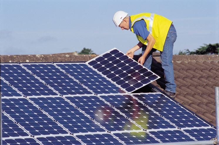 Installazione moduli fotovoltaici