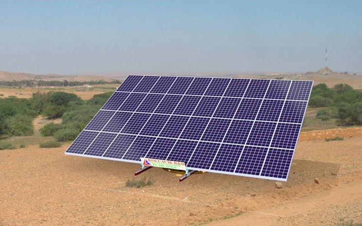 Impianto fotovoltaico sul suolo