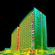 Termografia di un palazzo
