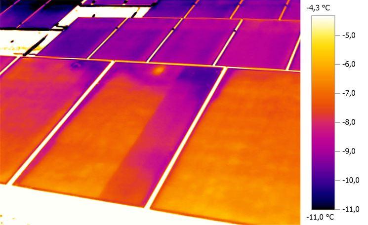 Termografia di impianto solare
