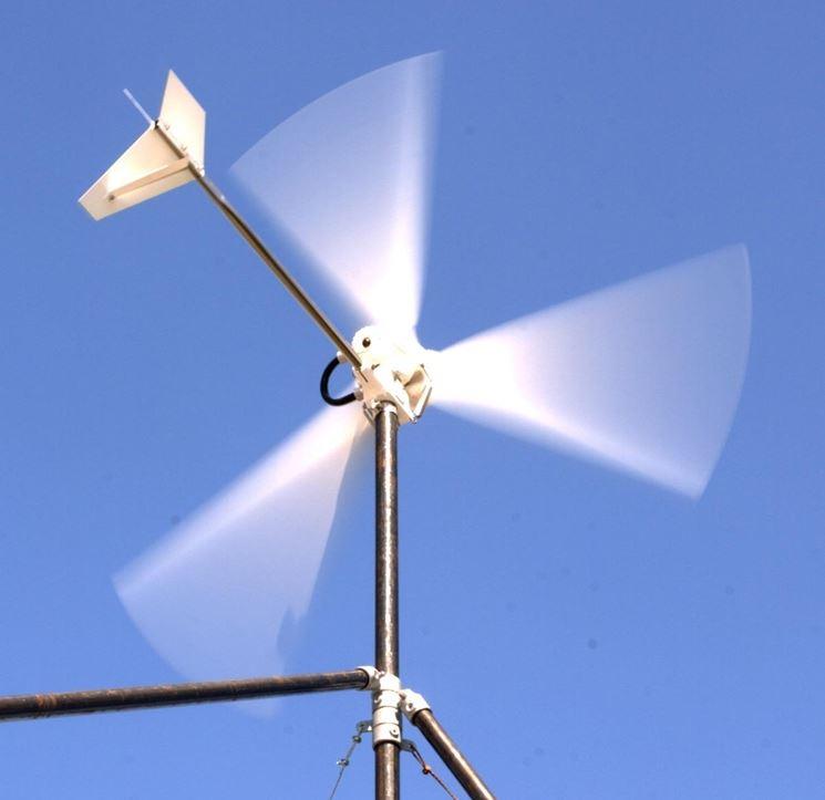 pala per impianto mini eolico