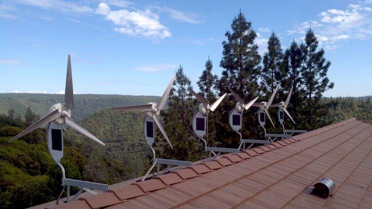 Impianto eolico tetto