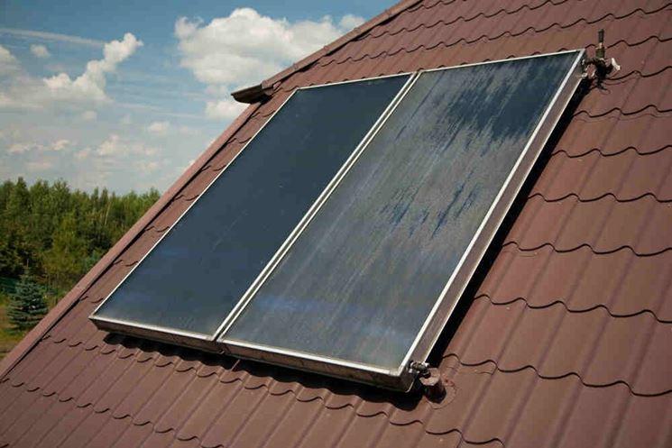 Esempio di un collettore solare piano