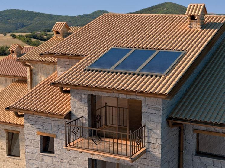 Collettori solari con sistema a circolazione forzata