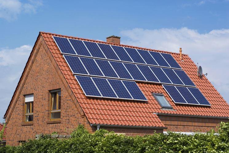 Abitazione con pannelli solari