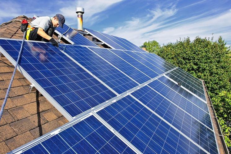 Impianto a pannelli solari completato