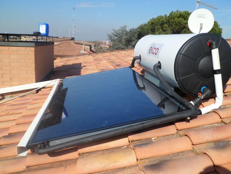 Pannello solare con serbatoio esterno