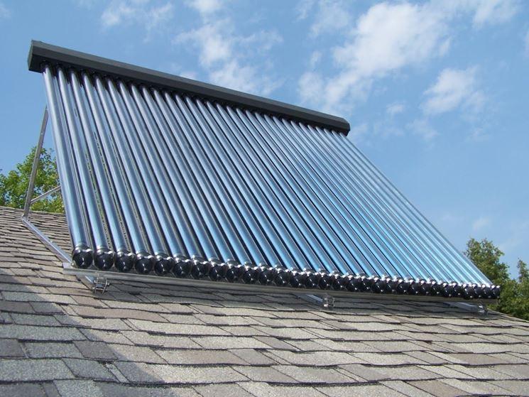 Pannello solare acqua calda