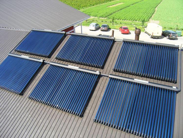esempio pannelli solari sottovuoto