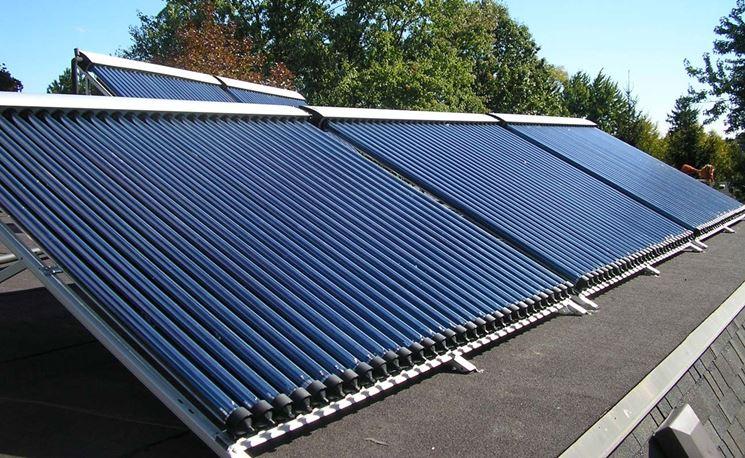 Pannello Solare Termico Resa : Solare termico sottovuoto pannelli solari tipologie