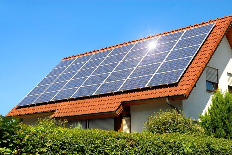 Fotovoltaico installato su un tetto