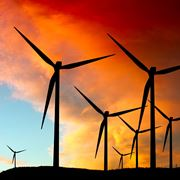 Un moderno impianto per la produzione di energia eolica