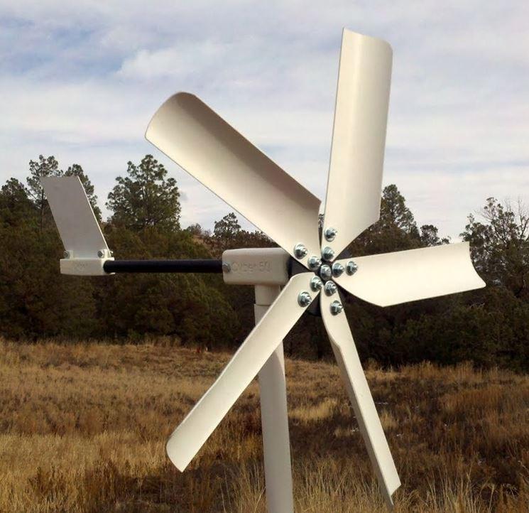 Un impianto eolico casalingo in una posizione ideale