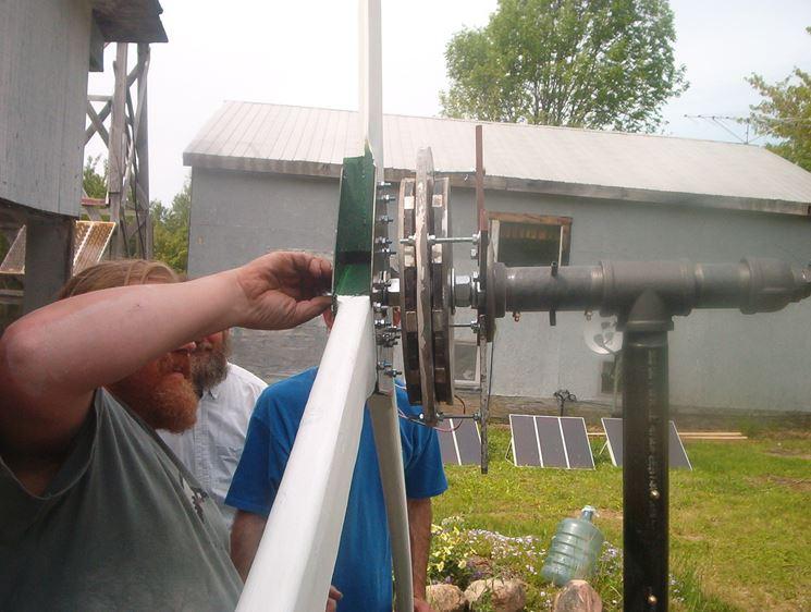 Preparazione impianto eolico