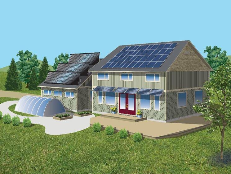 Edifici con pannelli fotovoltaici