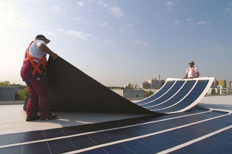 Esempio di lastre fotovoltaiche