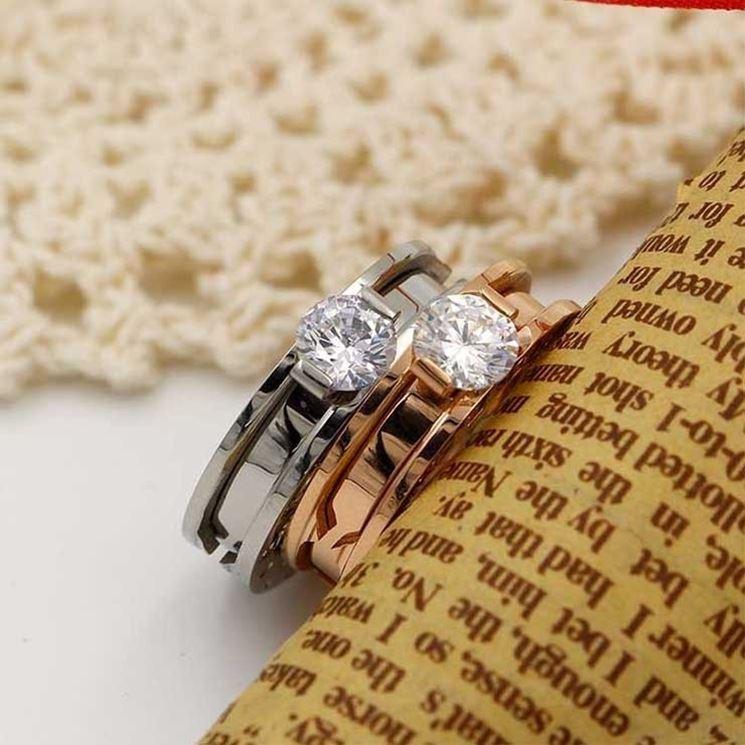 anelli bigiotteria con pietra